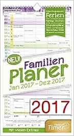 FamilienPlaner 2017 Wand-Kalender, Chäff-Timer, 5 Spalten, 22,5 x 42cm, 12 Monate Jan – Dez 2017: Chäff-Timer