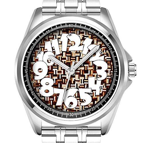 Personalisierte Herrenuhr Mode wasserdicht Uhr Armbanduhr Diamant 721. Leder Patches Drucken -