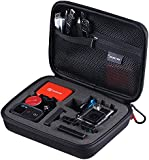 "Smatree SmaCase G160 Carrying and Travel Case (8.6"" X6.7"" X2.7"") with Foam for Gopro Hero, Hero4, 3+, 3, 2 ,1 Camera camcorder and Essential Accessories - Black"