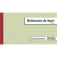 Exacompta - 43E - Quittances de Loyer Triples Autocopiants - 50 Feuillets