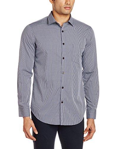 Kenneth Cole Men's Casual Shirt (4100503290031_kcrss16sh29_Medium_Blueberry)