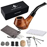 Wooden tobacco smoking pipe Set - Joyoldelf Creative Wood Tobacco Pipe with Pipe