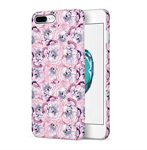 Pink Floral Blossoms Pattern Apple iPhone 7 PLUS Snap-On Hard Plastic Protective Shell Case Cover Tasche Handy Hülle Apple Blossom Pattern