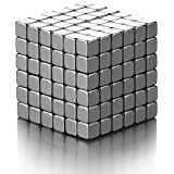 Laocui Magnet Stacking Blocks Building Blocks Square Magnetic Cube For Fun And Intelligence Development (Set Of 216pcs) 0.16""