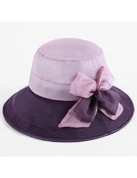 La primavera e l'estate ombrellone hat lady doppio colore crema solare è in grado di piegare il cappuccio di seta...