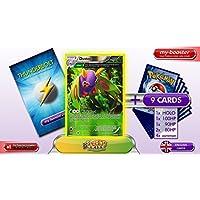 DUSTOX reverse holo Alf Art 8/108 130HP XY06 ROARING SKIES - Optimized THUNDERBOLT booster cards - 10 English Pokemon trading cards