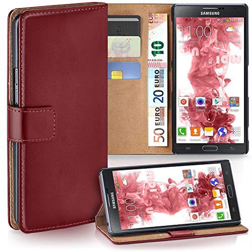moex Samsung Galaxy Note 3 Neo | Hülle Dunkel-Rot mit Karten-Fach 360° Book Klapp-Hülle Handytasche Kunst-Leder Handyhülle für Samsung Galaxy Note 3 Neo Case Flip Cover Schutzhülle Tasche