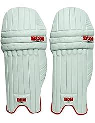 Copa del Mundo 2011 BDM para hombre de bateo de ratón derecho PU cuero Cricket Handed Pierna Guardia