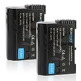 Blumax 2X Akku für Nikon EN-EL15 EN-EL15a 2000mAh Kompatibel mit DSLR D7200 D750 D500 D7000 D800 D810 D810e D600 D610 D7100 D850 D7500 7,0V 14Wh