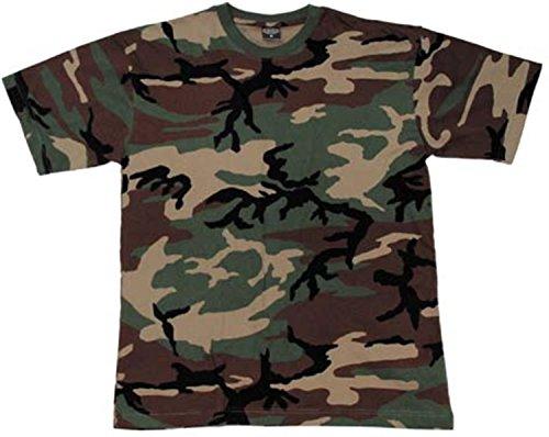 US/BW T-Shirt, klassisches Armee-T-Shirt, in 13 Auswahl, in den Größen S-3XL Farbe Woodland Größe M -