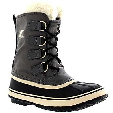 Damen Sorel Winter Carnival Schnee Regen Wolle Wasserdicht Stiefel - Zinn - 37