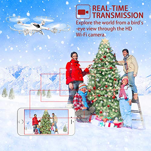 DBPOWER MJX X400W FPV Drohne mit WLAN Kamera Zurückkehrfunktion, Quadcopter mit Kopflosmodus für Kinder und Anfänger - 2