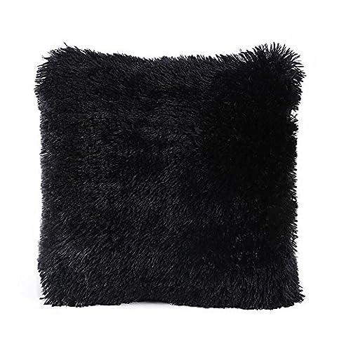 aipark Plüsch Kissen Schutzhülle Super Soft Kissenbezug für Familie Platz Sofa Couch Stuhl Sitz schwarz