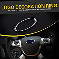 soxid (TM) 2014 Auto Reali Covers Volante paillettes decorazione anello box case per Ford Focus 2 3 Fiesta Mondeo EcoSport Escape
