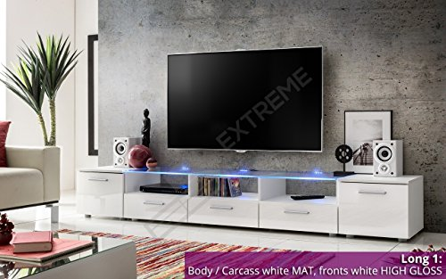 Modern Tv Unit Cabinet High Gloss Tv Stand Entertainment Lowboard