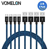 Micro USB Kabel, 4Pack 3FT Nylon geflochtenes Tangle-Free Mikro-USB-aufladenkabel-Gebühren-Schnur für Android, Samsung, HTC, Nokia, Sony, Nexus, LG und mehr