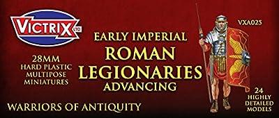 Victrix VXA025 - Early Imperial Roman Legionaries Advancing - 25 Figure Box Set - 28mm Plastic Miniatures - Warrior of Antiquity