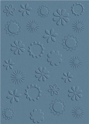 We R Memory Keepers A-2 Embossing Folder, Flowers by QUICKUTZ -