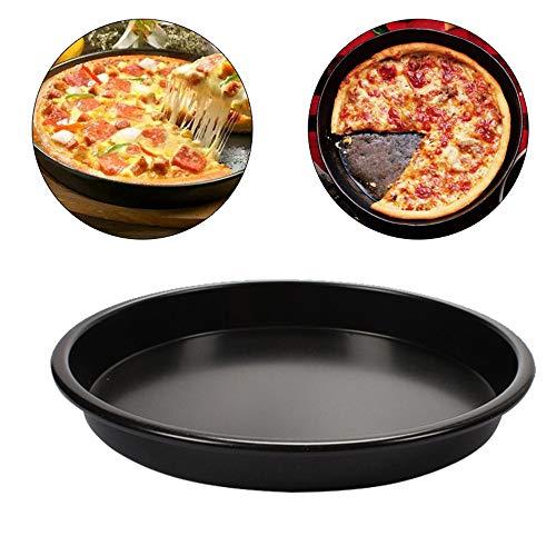 ZZM Plat à Pizza Plateau à Tarte à Pizza en métal Plat à gâteau Rond Plateau à gâteau Plateau de Cuisson pour 7/9 Pouces Outil de Cuisson (9Inch)