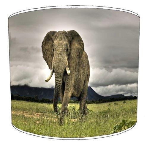 Premier Lampenschirme - Durchmesser 20cm Tabelle Afrikanischer Elefant Kinderlampenschirme (Trommel 20 Afrikanische)