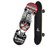 JBD Skateboard - Skateboard PRO Completo - Piattaforma Pieghevole e rotelle Lisce in PU per Giochi per Adulti Skateboard, Regalo di Compleanno per Bambini Ragazzi Ragazze 5 Anni, 7
