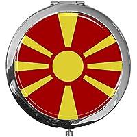 "metALUm - Extragroße Pillendose in runder Form""Flagge Guayana"" preisvergleich bei billige-tabletten.eu"