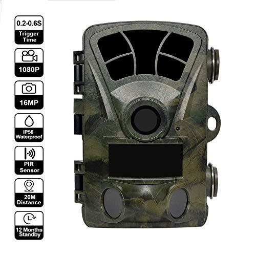 OMZBM Nachtsicht-Jagdkamera mit 2,4-Zoll-16MP 1080P IR,Outdoor Forest Waterproof Foto-Fallen Scouting Hunter Chasse,120 ° Weitwinkel-Digitalkamera mit 32G-Speicherkarte - Camera Hunter