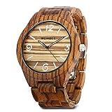 WONBEE montre en bois pour hommes et femmes- bois artisanal montres en bois bracelet-lunette en bois- Séries montre zèbre-ARABTOON