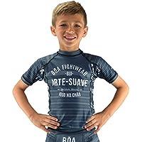BOA Jogo no Chão Grey Rashguard Mango Corto Infantil, Color Gris, tamaño FR : S (Taille Fabricant : 10Y)