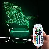 DONJON Baby Lampe, LEDFisch Lampemit mit Wireless-Fernbedienung 16 Farben für Kinder Familie Ferienhaus Dekoration - (Geburtstagsgeschenke, Weihnachtsgeschenke, usw. ) - (Fisch Lampe)