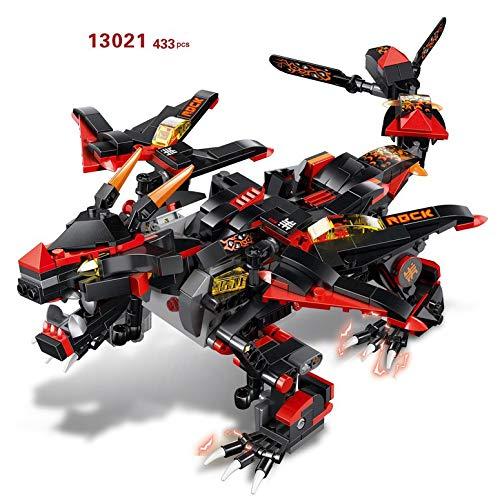 ArgoBear MoFun-13021 USB 2.4G 4H Lade Building Block Teufel Krieg Drachen-Form-433pcs DIY Elektro RC Roboter-Modell für Kinder von Unique -
