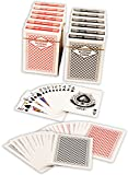 Diamond Playing Cards: 12 Decks (6 Red, 6 Black) Poker Size Regular Index Plastic Coated Playing Cards by Da Vinci, Made In Taiwan by Diamond