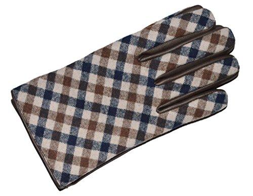 aquascutum-guantes-para-hombre-marrn-marrn-medium
