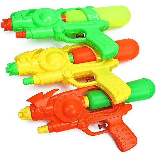Giochi acquatici d'acqua per bambini a lungo raggio spiaggia giocare acqua pressione acqua pistola per bambini giallo