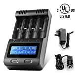 LCD Display Speedy Universal Battery Charger with Car Adapter, Zanflare C4 Smart Charger