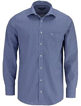 CASAMODA Regular Fit Hemd extra langer Arm Karo dunkelblau/weiß 006269/101 AL 69