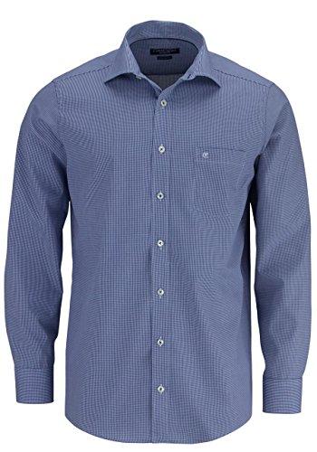 CASAMODA Regular Fit Hemd extra langer Arm Karo dunkelblau/weiß 006269/101 AL 69 Dunkelblau
