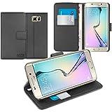 Orzly® - Multi-Functional Wallet Stand Case para SAMSUNG GALAXY S6 EDGE PLUS SmartPhone / Teléfono Móvil (S6 edge+) (2015 Modelo) - FUNDA / CAJA con PORTFOLIO + SOPORTE INTEGRADO y Tapa magnético - NEGRO