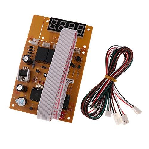 sharprepublic Tablero del Temporizador USB con Pantalla LCD Separada para La Máquina De Juego Arcade