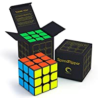 ‏‪SpeedRipper Cube: Perfect for International Speed Cube Competitions - Buttery Smooth Turning - Solid & Durable, Best 3x3 Puzzle Magic Toy - Turns Quicker Than Original‬‏