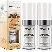 Concealer-Abdeckung, (2 Stück) Makelloses Make-up für die farbwechselnde Grundierung, Warm Skin Tone Foundation…