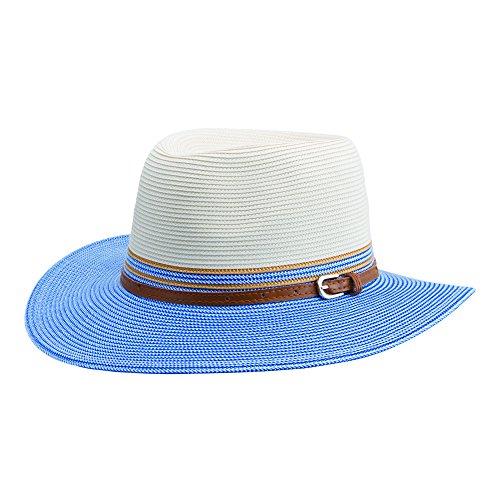 Emthunzini hats - Pamela - para Mujer Ivory Blue Medium dfb27498f495