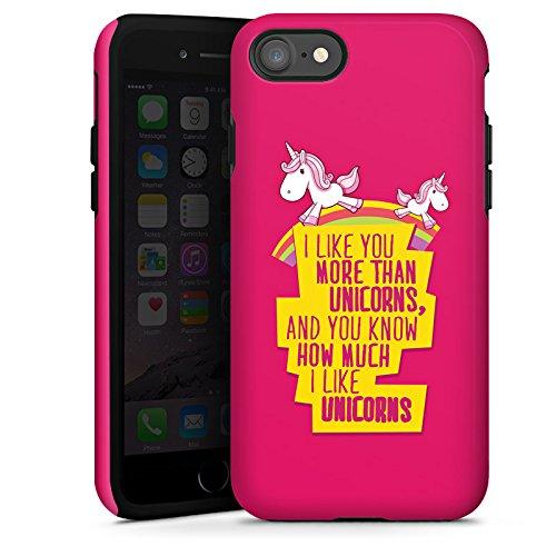 Apple iPhone X Silikon Hülle Case Schutzhülle Unicorn Einhorn Sprüche Tough Case glänzend