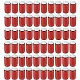60 Stück Grablichter, Kompositions Öl-Lichter, Nr.3, rot