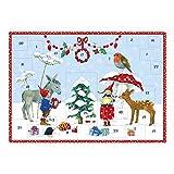 Bilderadventskalender für Kinder DIN A3 2018, Weihnachtskalender aus Papier'Pippa und Pelle mit Tieren', ungefüllt, Mädchen, Jungs, Familie, Advent, Weihnachten, XXL