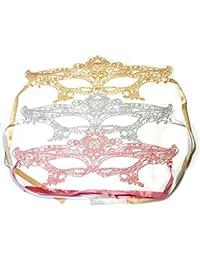 PRESKIN - Ensemble de 3 masques de dentelle pour le carnaval, la séduction vénitienne pour le carnaval, masques sexy pour le déguisement et le Parti, fifty shades of grey