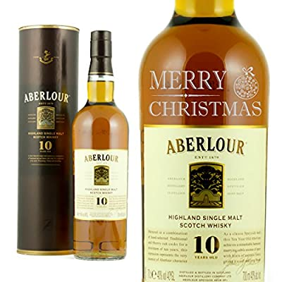 Personalised Engraved Single Malt Christmas Whisky Gift Aberlour 10 year old