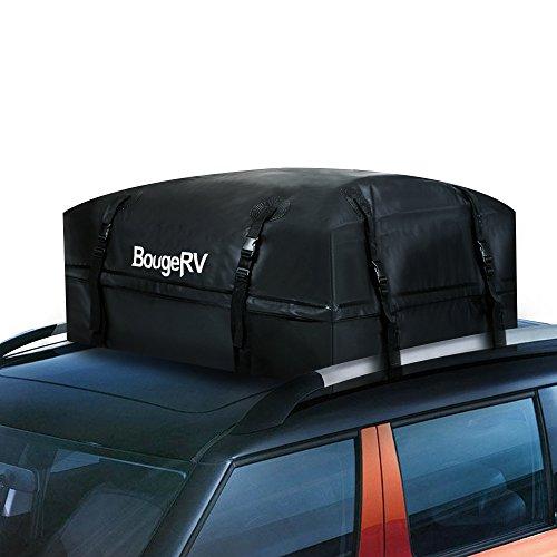 BougeRV Wasserdicht Dachgepäckträger Dachbox Auto 97 x 97 x 46cm Faltbar Dachträger Universal Dach Beutel Dachtasche Aufbewahrungsbox für Reise, Feiertage und Gepäcktransport, Autos, Vans, SUVs