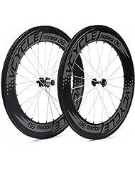 VCYCLE Nopea 700C 88mm Carbono Carretera Bicicleta Rueda Copertoncino Juego para Shimano o Sram 8/