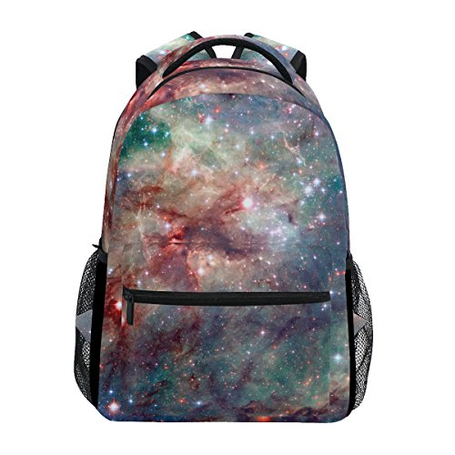 zzkko Comos Cosmic Galaxy Star Starry Night Rucksäcke College School Book Bag Travel Wandern Camping Tagesrucksack